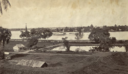 Bassein River with Chief Comr's steamer 'Irrawaddy'